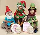 18C215 - Polymer Clay Leprechauns, Elves and Gnomes